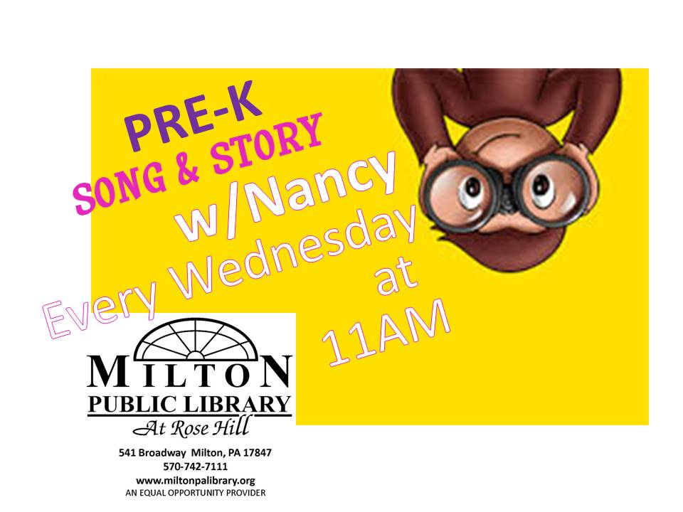 Song and Story with Nancy @ Milton Public Library | Milton | Pennsylvania | United States